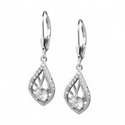 Touch of Elegance - Cercei de argint Preciosa (Crystal / White)