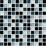 Maxwhite ASHS201 mozaika skleněná černá bílá šedá 29,7x29,7cm sklo
