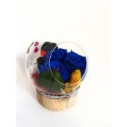 Trei trandafiri criogenati in bol decorativ