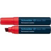 Permanent marker SCHNEIDER Maxx 280 varf tesit 4-12mm - rosu