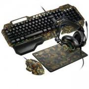 Геймърски комплект Canyon 4in1 Argama, клавиатура (104 keys), мишка (6400 DPI), пад за мишка, слушалки, CND-SGS03M-US
