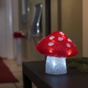 Konstsmide LED Fliegenpilz, 16 kaltweiße LEDs