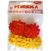 Flori din pasla autoadeziva Floricica Daco