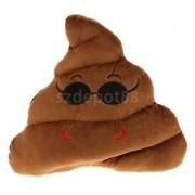 Alcoa Prime Funny Pillow Poop Shape w Cool Face Soft Emoji Emotion Cushion Toy Car Decor