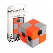 Cubo Plegable Puzzle Y Creative Juguete Para Reducir Estres - Naranja Y Gris