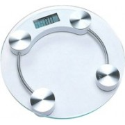Granny Smith Personal Health Human Body Digital Weight Machine 8mm Round Transparent Glass Weighing Scale(White)