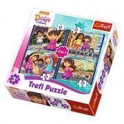 Trefl Puzzle Slagalica 4u1 Dora And Friends (34265)