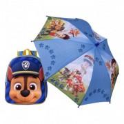 Paw Patrol CHASE ghiozdan cu umbrela inclusa