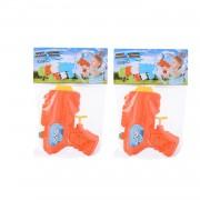Merkloos 10x Mini waterpistolen/waterpistool oranje van 12 cm kinderspeelgoed