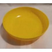 Camping műanyag tál közepes sárga (85)