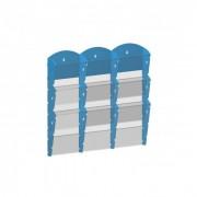 B2B Partner Plastikowy uchwyt ścienny na ulotki - 3x3 a5, szary