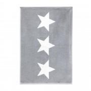 Linnea Tapis de bain 50x70 cm 100% coton 700 g/m2 STARS Gris