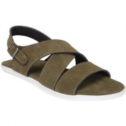 Shoegaro Men's Green Synthetic Leather Party Casual Sandal