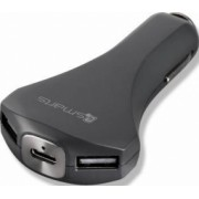 Incarcator Auto 4smarts Qualcomm 3.0 Ultimate Dual USB + Type-C Black