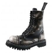 Stiefel Boots STEADY´S - 10 dírkové - Weiß schwarz - STE/10_white/black