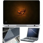 Finearts Laptop Skin 15.6 Inch With Key Guard & Screen Protector - Republic Of Gamers