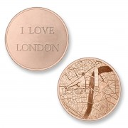 Mi Moneda LON-03 Del Mundo - London rosekleurig Large