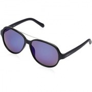 Fastrack P319BU1 Aviator Mirrored Sunglasses Black / Blue