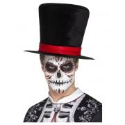 Deguisetoi Chapeau haut de forme velour Dia de los Muertos adulte