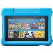 Таблет Amazon Fire 7 Kids Edition, 7-инчов дисплей, 16 GB, Син калъф, Подходящ за деца