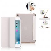 Premium Apple iPad Mini 1, 2, 3 - Smart Cover Hoes Case - met Flexibele Achterkant – Wit / White