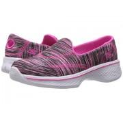 SKECHERS Go Walk 4 81135L (Little KidBig Kid) BlackHot Pink