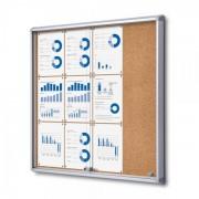 Jansen Display Interiérová vitrína 12xA4, posuvné dveře, korková záda