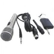 Professional WM-110 Wireless Receiver Microphone Karaoke Cordless Microphone