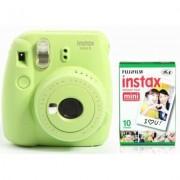 Fujifilm Aparat FUJIFILM Instax mini 9 Lime Zielony + 10 Wkładów Filmowych