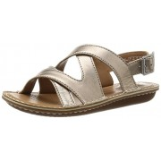 Clarks Women's Metallic Leather Fashion Sandals - 4 UK/India (37 EU)