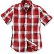 Carhartt Slim Fit Plaid Camisa de manga corta Rojo/Blanco L