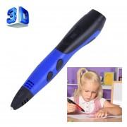 Gen 6 ABS / PLA Filamento Niños BRICOLAJE Dibujo 3D Printing Pluma Con Pantalla LCD (azul + Negro)