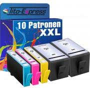 Tito-Express PlatinumSerie PlatinumSerie® 10 cartridges XXL compatibel voor HP XL 934 935 XL Office Jet Pro zwart cyaan magenta geel HP Office Jet Pro 6200 Series / 6230 / 6230 Series / 6235 / 6239 / 6830 / 6830 Series / 6835 HP OfficeJet: 6800