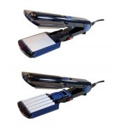 2 in 1 Electric Hair Styler - Hair Crimper and Hair Straightener in one - NHC-461-2 (Multicolor)