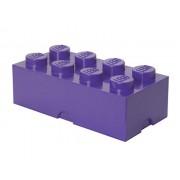 40041749 Cutie depozitare LEGO 2x4 violet mediu