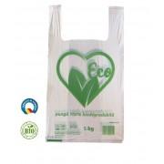 Set 1000 Pungi Biodegradabile Albe, Model Imprimat, 27x6x45 cm, Rezistenta 5 Kg, Grosime 19 MIC - Sacose Biodegradabile si Ecologice