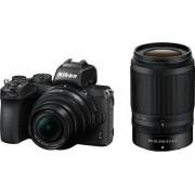 Nikon - Z50 Mirrorless Camera Two Lens Kit with NIKKOR Z DX 16-50mm f/3.5-6.3 VR and NIKKOR Z DX 50-250mm f/4.5-6.3 VR Lenses - Black