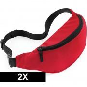 Bagbase 2x Reistasjes verstelbaar rood 38 cm