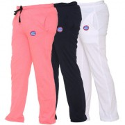 Vimal-Jonney Multicolor Cotton Blended Trackpants For Girls(Pack Of 3)