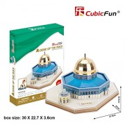 3d Puzzle Dome of the Rock Cubicfun MC189h Decorative Best Seller Cubic Fun Exiting Fun Educational Historic Playing Building Game DIY Holiday Kids Best Gift Toy Set