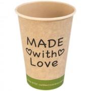 Hygienepapier.nl Drinkbeker of koffiebeker 180ml Bamboe, PE, 7.5oz Made with Love 1000st (159040)