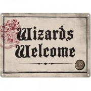 Half Moon Bay Harry Potter - Wizards Welcome Tin Sign - 21 x 15 cm