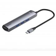 Hub Adaptador Tipo C Pd Ethernet HDMI Usb3.0 Metal Macbook Laptop