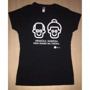 Krása pomoci Dětské tričko KRÁSA POMOCI - Dědečka i babičku, rádi máme na tričku