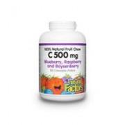 Vitamina c 500 cu bioflavonoizi, rutin, maces si extracte de fructe salbatice 90cpr NATURAL FACTORS