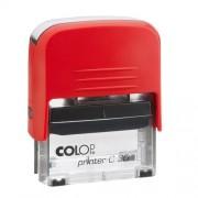 Szövegbélyegző Printer C30 piros ház 18x47 mm