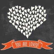 you are loved poster|valentine poste|love birds poster|poster for lovers|size(12x18 inch) wall sticker poster