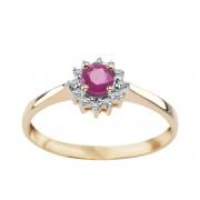 Biżuteria Verona Złoty pierścionek z diamentami i rubinami