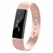 Eastor ID115HR pulsera de ritmo cardiaco inteligente con Fitness Tracker - Rosa