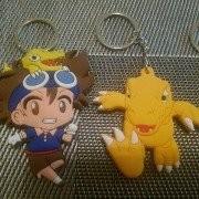 SilphCo Digimon Tai Agumon Bundle Keychains Anime 2X Keyring Keychain Double Sided Pvc Premium